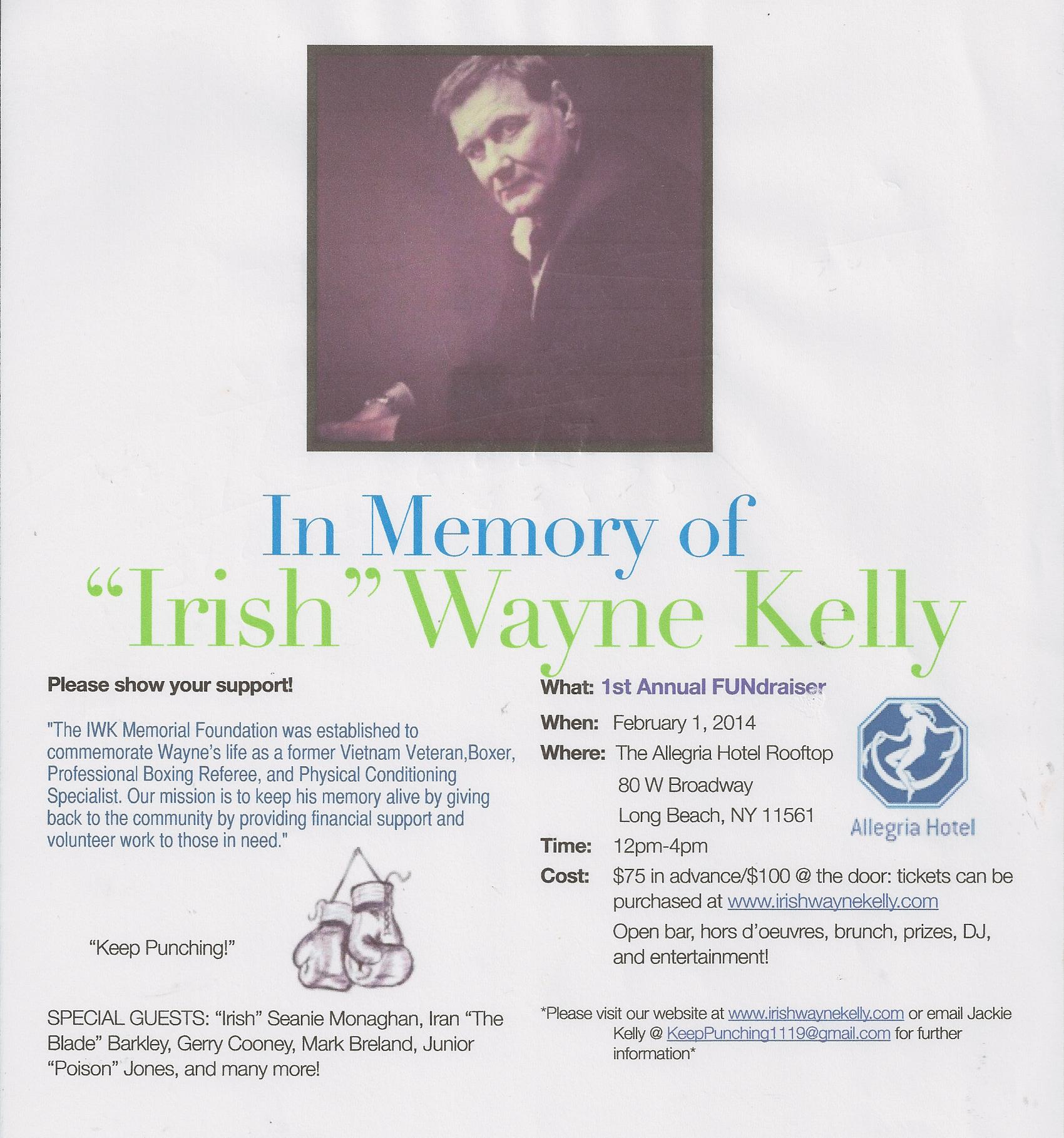 Wayne Kelly In Memory of