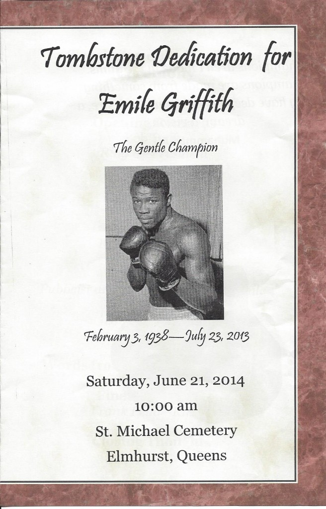 Emile Griffith Tombstone Dedication