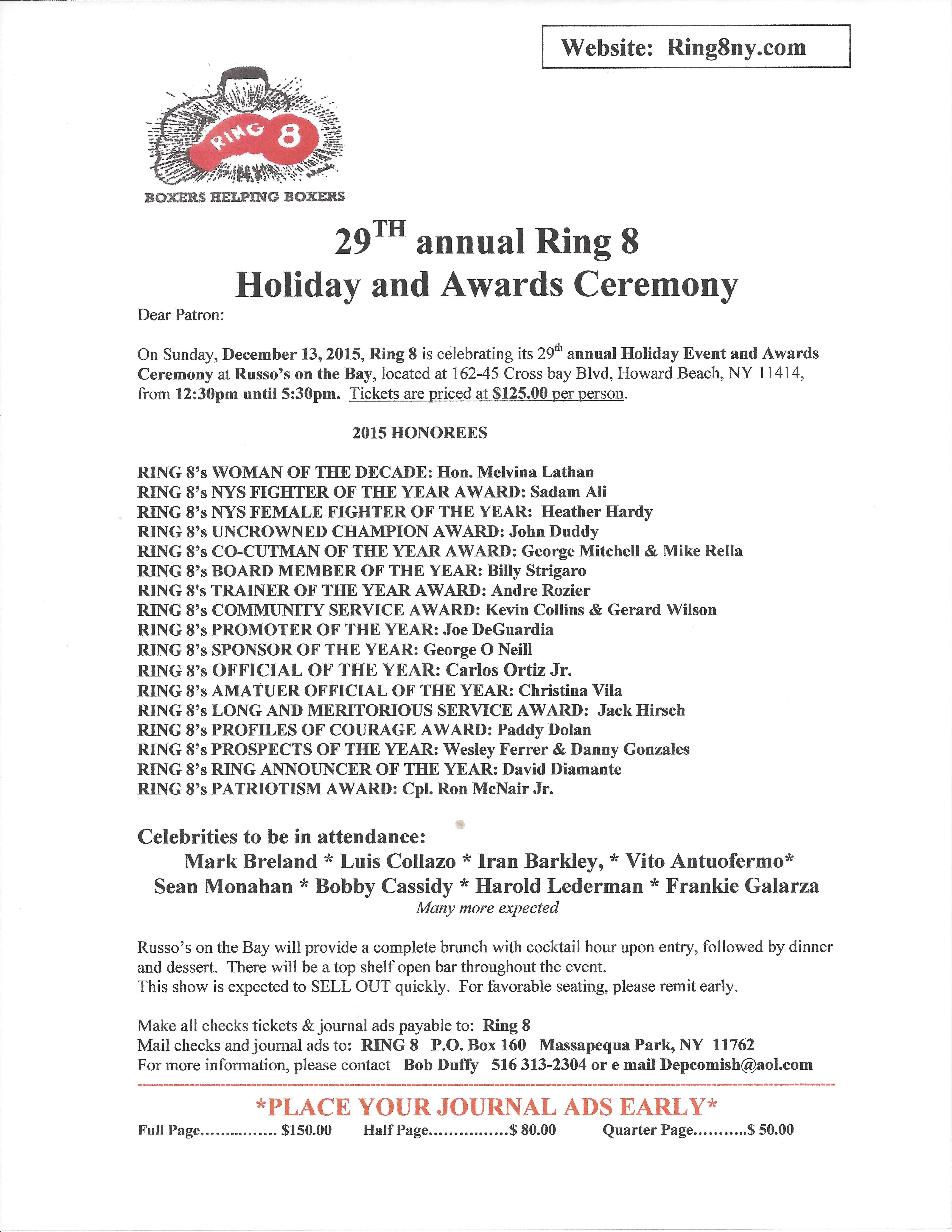 2015 Ring 8 AD Form