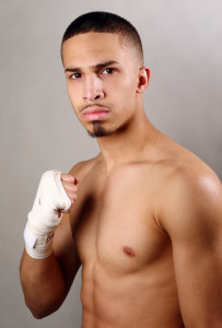 during a Golden Boy Promotions Portrait session on April 25, 2013 at the Sheraton Hotel in Brooklyn borough of New York City.